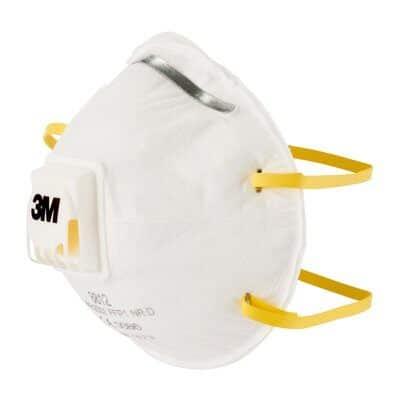 respirador facial con filtrado con válvula que cuenta con una robusto armazón resistente a la deformación,