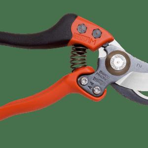 Tijeras de podar de una mano de corte deslizante ERGOT con mango fijo recubierto de elastómero