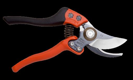 Tijeras de podar de una mano de corte deslizante ERGO con mango fijo recubierto de elastómero