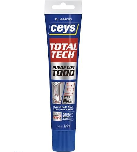 CEYS TOTAL TECH Adhesivo tubo 125 ml BLANCO