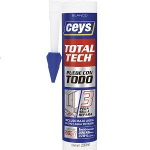 CEYS TOTAL TECH Adhesivo cartucho 290 ml BLANCO