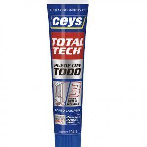 CEYS TOTAL TECH Adhesivo tubo 125 ml TRANSPARENTE