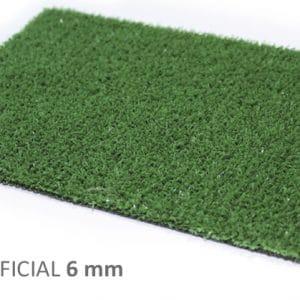 Césped ARTIFICIAL 6 mm moqueta para jardin y terraza