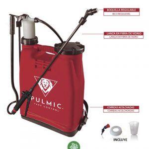 Hidráulico manual para la aplicación de productos agroquímicos con 16 litros de capacidad útil. *Incluye: pistón produr, probeta y conjunto herbicida.