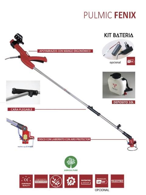 Pulverizador de Ultra Bajo Volumen desarrollado para tratamientos herbicidas sistémicos. *10 litros de depósito.