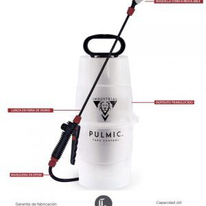 Hidráulico de presión previa para aplicación de químicos (uso industrial). *5 litros de capacidad y 1,30 kgr de peso.