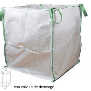 SACA (BIG-BAG) C/VALVULA DESCARGA (max 1000 Kg)
