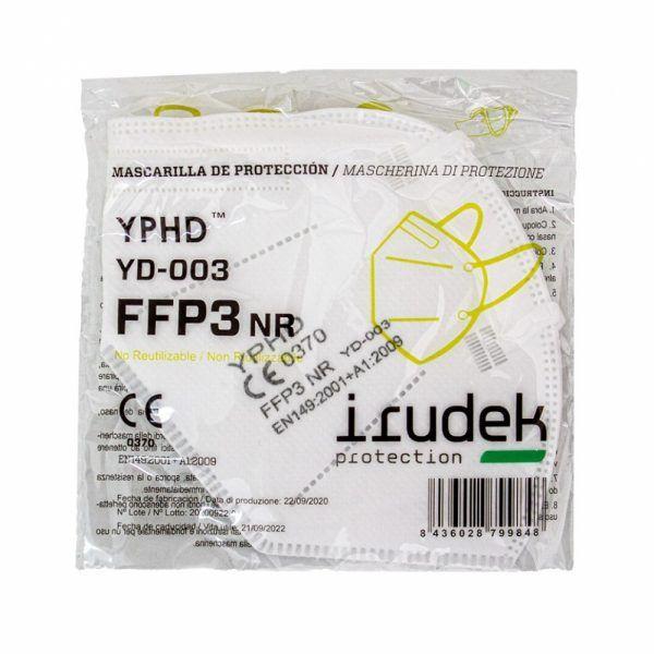 MASCARILLA plegada YD-003 YPHD FFP3 sin valvula