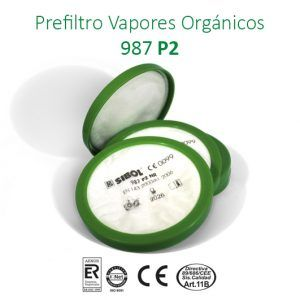 Pre-Filtro contra partículas sólidas o líquidas.