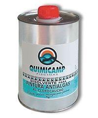 Disolvente cloro caucho para piscina . Antialgas
